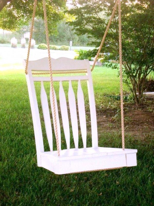 Chair Swing | DIY Repurposed Decor