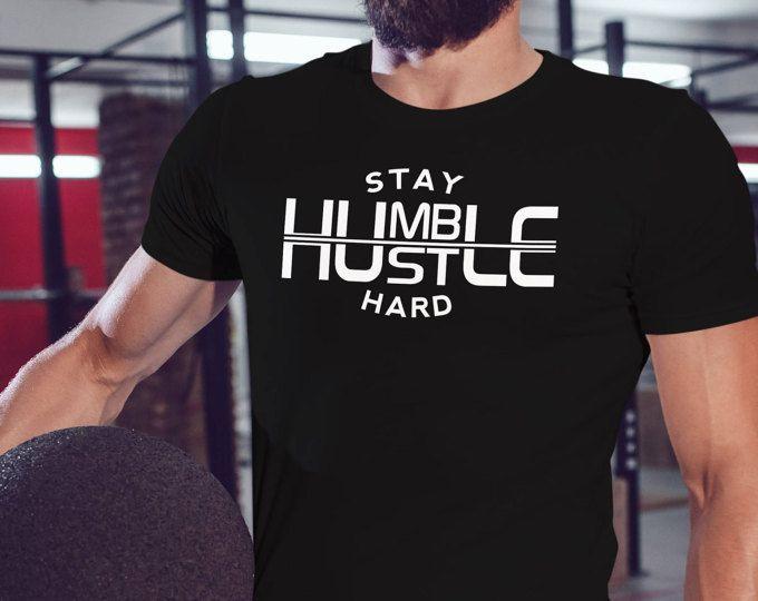 Stay Humble Hustle Hard Tshirt Mens Workout Shirt Mens Gym Shirt