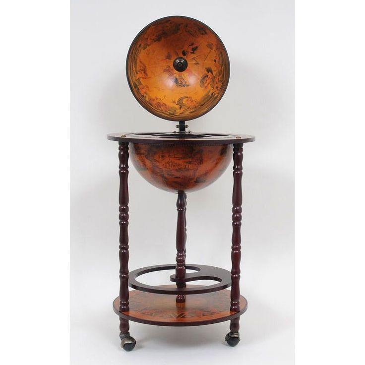 Captivating Old Modern Handicrafts Nautical Globe Bar Table