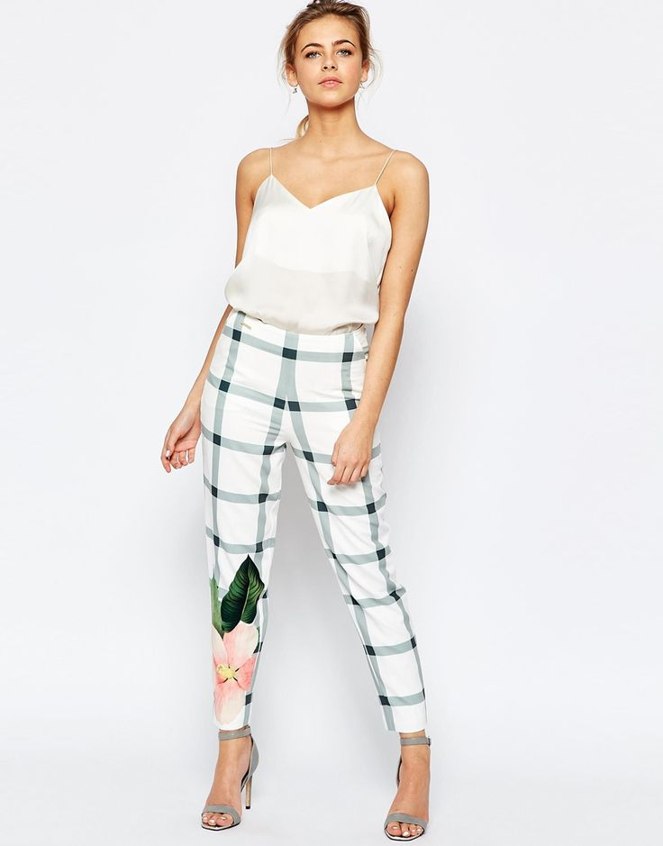 Image 1 of Ted Baker Trellis Check Crop Pant