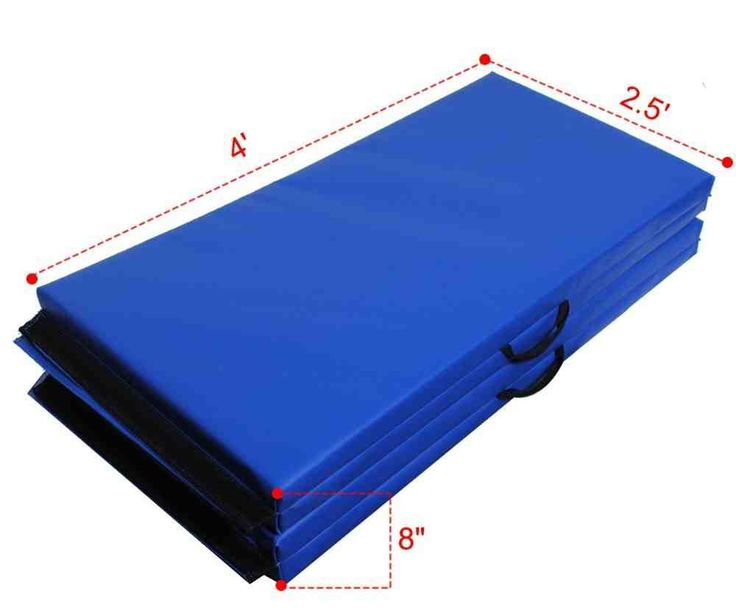 new folding panel gymnastic mat gym exercise yoga mat pad blue