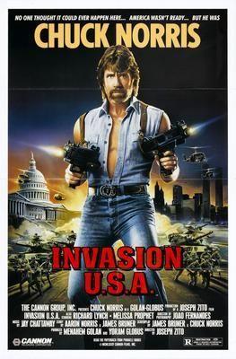 Invasion Usa Chuck Norris Movie Poster Puzzle Fun-Size 120 pcs