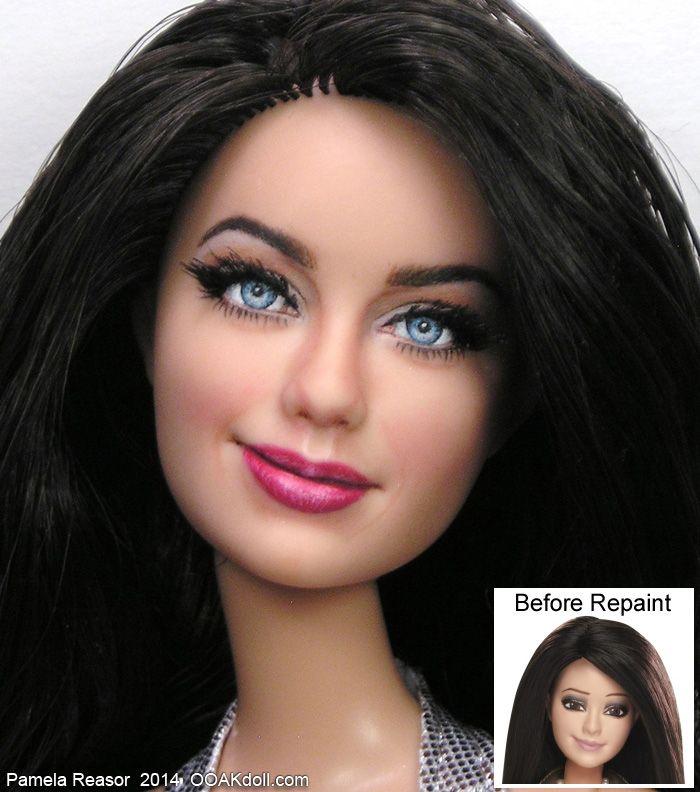 Best Art Barbie Repaint Artists Images On Pinterest Noel - Artist repaints disney princesses to look more realistic with amazing results