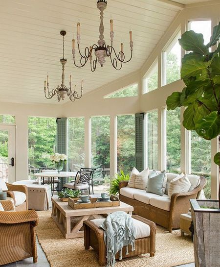 If the sunroom or garden room is large enough, you can look at a