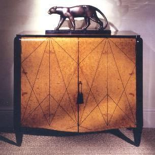 Contemporary cabinet in the French Art Deco style  Amboyna with inlays of  ebony  Rupert. Best 25  Art Deco Furniture ideas on Pinterest   Deco furniture