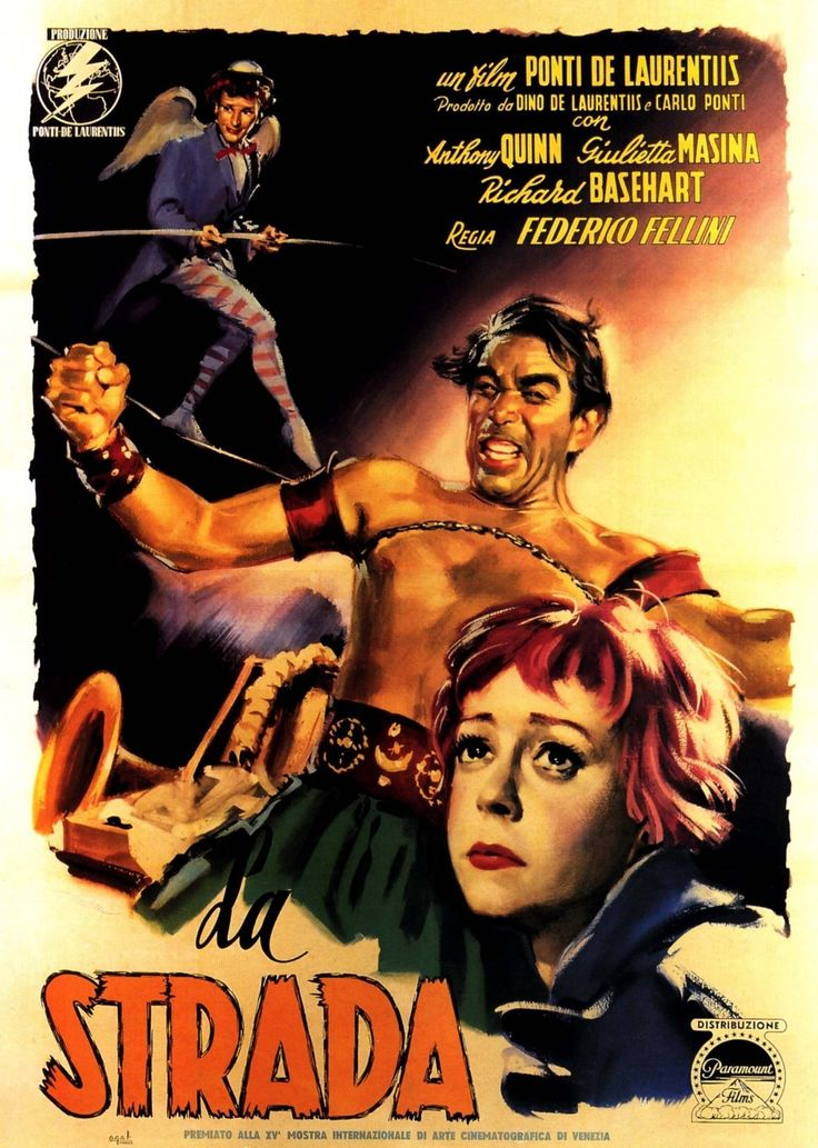 Directed by Federico Fellini With Anthony Quinn Giulietta Masina Richard Basehart Aldo Silvani A carefree girl is sold to a traveling entertainer consequently