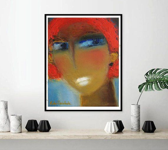 Abstract Female Face Portrait Print Etsy Figurative Wall Art Abstract Small Art Prints
