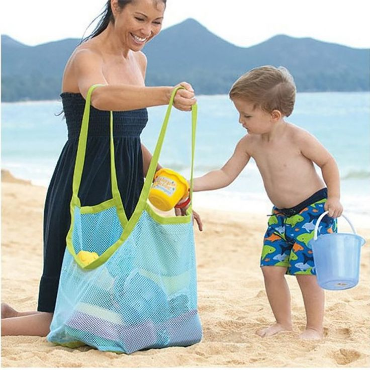 Clothes Towel Bag Children Sand Away Baby Toy Collection Nappy Beach Mesh Bag Beach Toys Hot #Affiliate