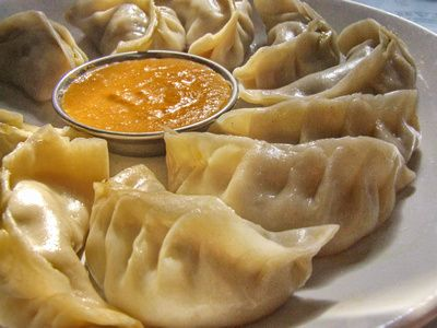 Food from Nepal: Momos (tourist version)