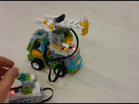 Fire Truck saves a legoman - Lego Wedo 2 0 Education