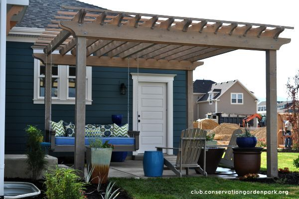 Hanging daybed swing on pergola diy tutorial part 2 for Parts of a pergola
