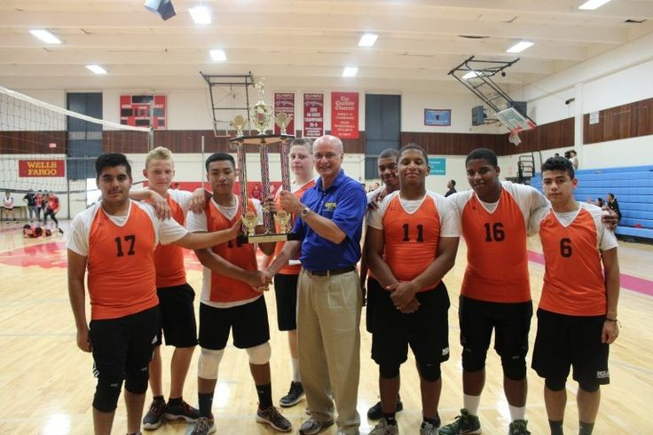 Rocky river cadets win championship - CMS JROTC Director Colonel Robert Clark presents the championship trophy to the Rocky River High School Ravens Cadets.  The Ravens Battalion Boys Volleyball Team dominated September 16th in the annual CMS JROTC Tournament.  Olympic High School hosted the event with JROTC teams from throughout... - https://www.minthilltimes.com/hometown/rocky-river-cadets-win-championship/