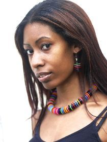 New product – Spangles necklace made with hand-dyed nylon washers on rubber cord