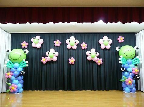 なないろ☆まかろん@Beansばるん工場裏見学-こざくら保育園☆卒園式バルーン装飾2012