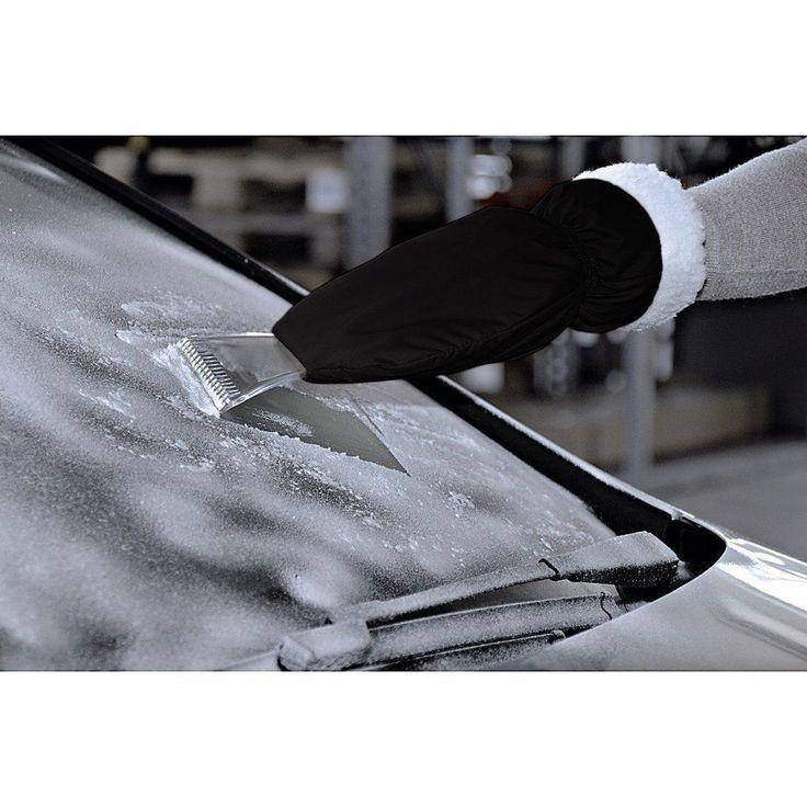 Silverline Eiskratzer mit Handschuh Auto Eisschaber Scheibenkratzer warm Blau
