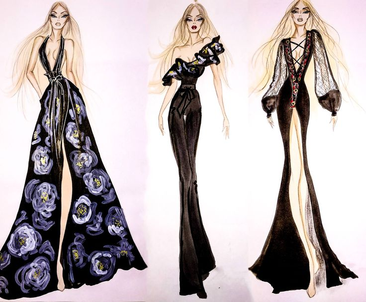 We are showing you an exclusive preview of the #GaliaLahav new #evening collection sketches designed by Sharon Server right before the #Paris #fashionshow.