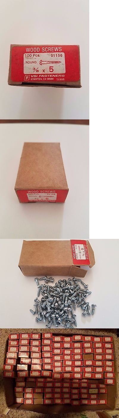 Screws and Bolts 180976: Vintage Wood Screws - 100 Box - Vsi Fasteners 3 8 X 5 Slotted Round - 185 Boxes -> BUY IT NOW ONLY: $199.99 on eBay!