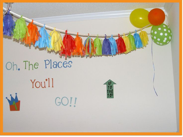 oh the places youll go baby shower cupcakes | Dr. Seuss Oh The Places Youll Go Confetti System style 36 Tassel ...