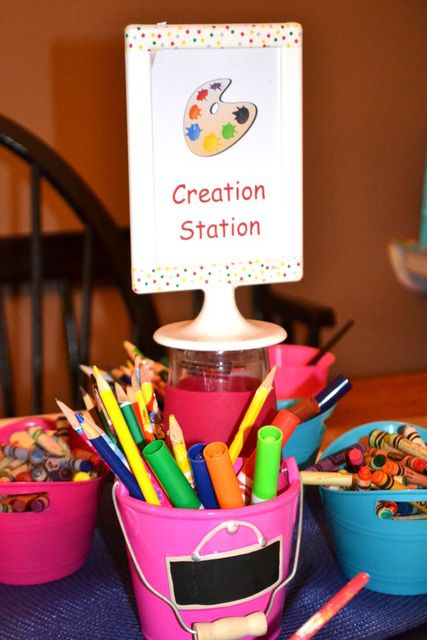 Best 25 craft station ideas on pinterest gift wrap for Craft birthday party places
