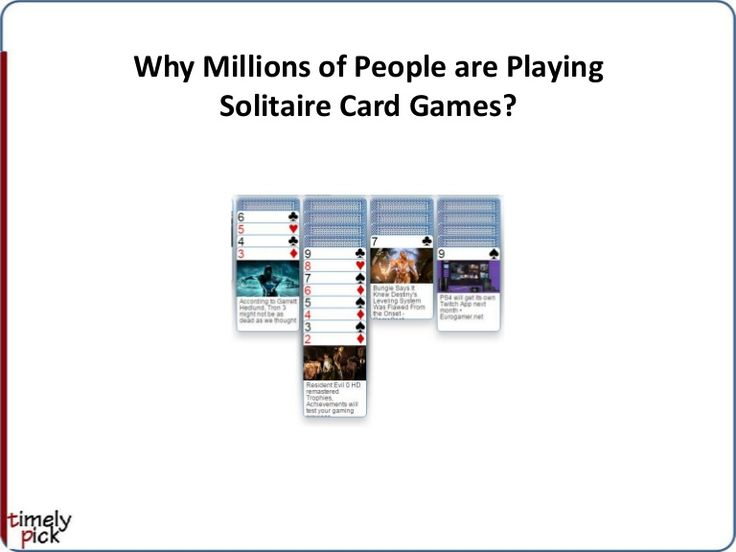 It is known that millions of people are playing solitaire card games like Klondike solitaire and Spider solitaire. We went to check what is in solitaire games …