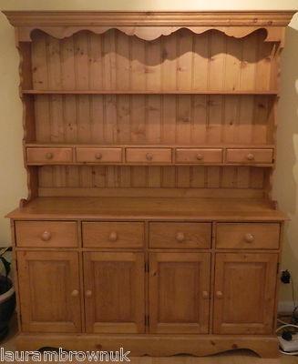 Traditional Durham Pine Welsh Dresser Sideboard Ebay