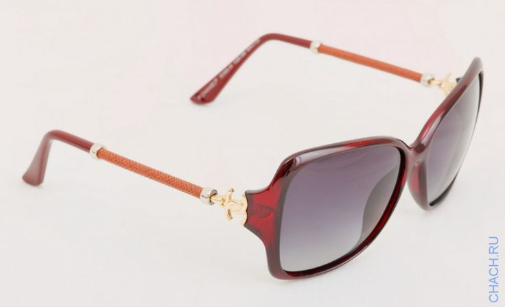 Очки Chanel с округлыми дужками темные коричневые полупрозрачные