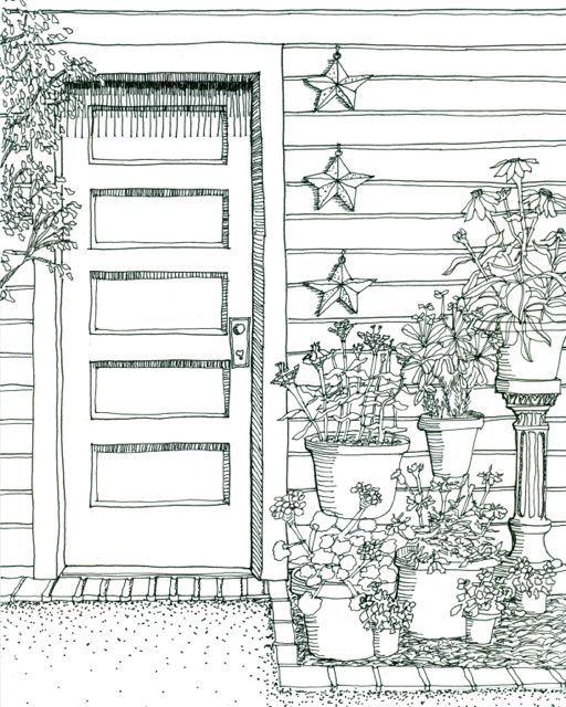 Front Door Drawing 8 best door series images on pinterest | paintings, watercolors