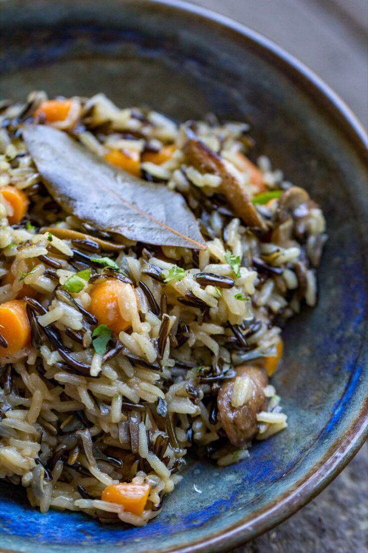 Wild Rice Pilaf Easy Homemade Side Dish Recipe From Owyd Recipe Homemade Side Dish Food Dishes Recipes