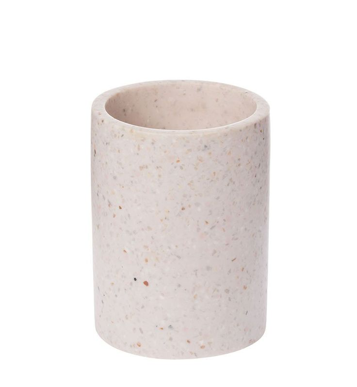 This little terrazzo vessel has many uses - a small vase or storage for your bathroom or desk. $39.00  Rose / Pale Pink / Blush Pink