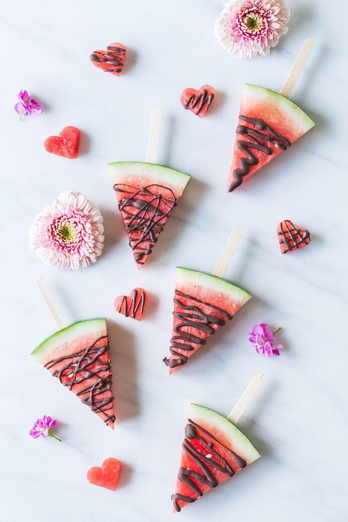 Bridal shower dessert idea - Chocolate watermelon Pops {Courtesy of Glitter Guide}
