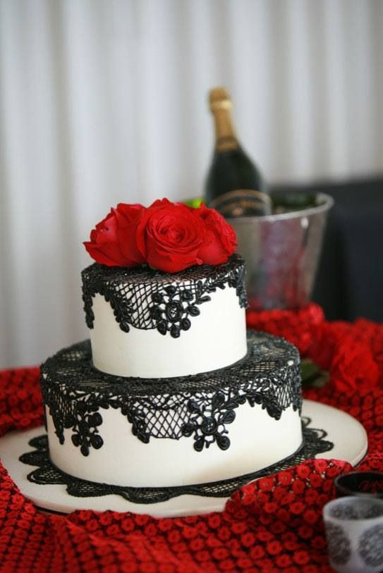 Spanish Themed Wedding Cake Gabby of Cake Coquette (Elegant Lace Cakes) I(Heart)Cake Decorating  Sister 30th