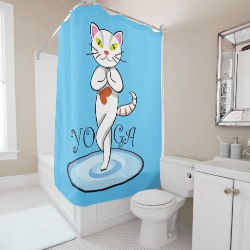 Lindo gato yoga. Producto disponible en tienda Zazzle. Decoración para el hogar. Product available in Zazzle store. Home decoration. Regalos, Gifts. Link to product: http://www.zazzle.com/lindo_gato_yoga_shower_curtain-256057888337533202?CMPN=shareicon&lang=en&social=true&rf=238167879144476949 #shower #curtain #cortina #cat #gato #kitten #yoga
