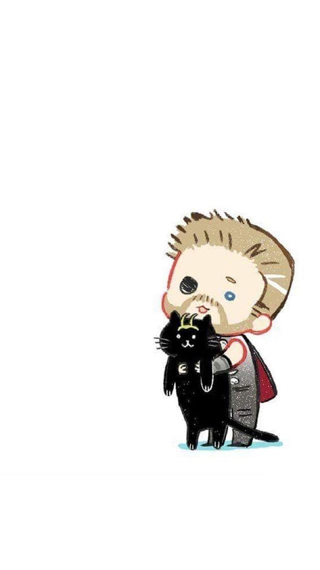 Thor And Loki Cat Awwwwwww Loki Marvel Loki Cat Thor Wallpaper