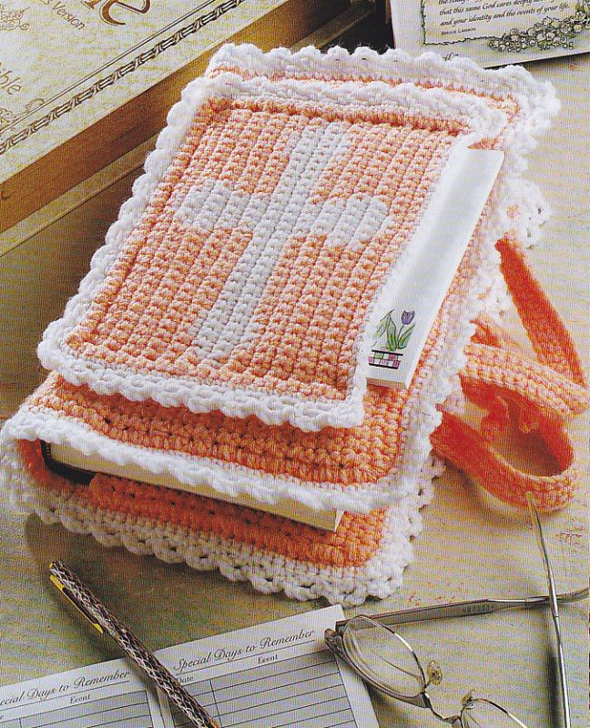 Easy Crochet Bible Cover Pattern : 9 best images about Crochet- Religious on Pinterest Free ...