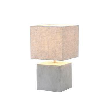 De Tafellamp Heerlen klein Beton/beige kap E27 ( 40W ) voor in de woonkamer, slaapkamer of in kantoor. Deze lamp geeft een prachtige sfeer!