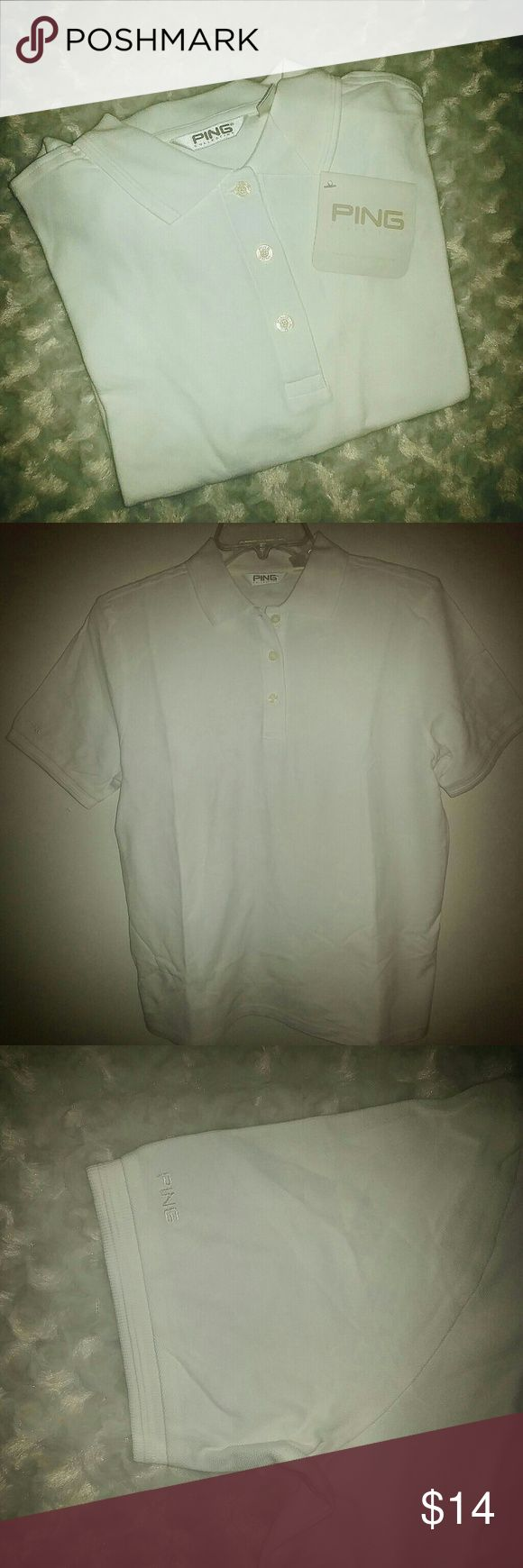 White Ping Polo Golf Shirt White Ping Polo Golf Shirt Ping Shirts Polos
