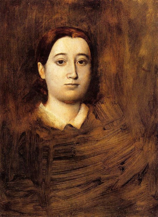 Portrait of Madame Edmondo Morbilli by Edgar Degas