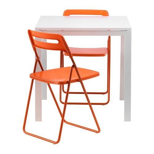 MELLTORP/NISSE Table and 2 folding chairs - IKEA