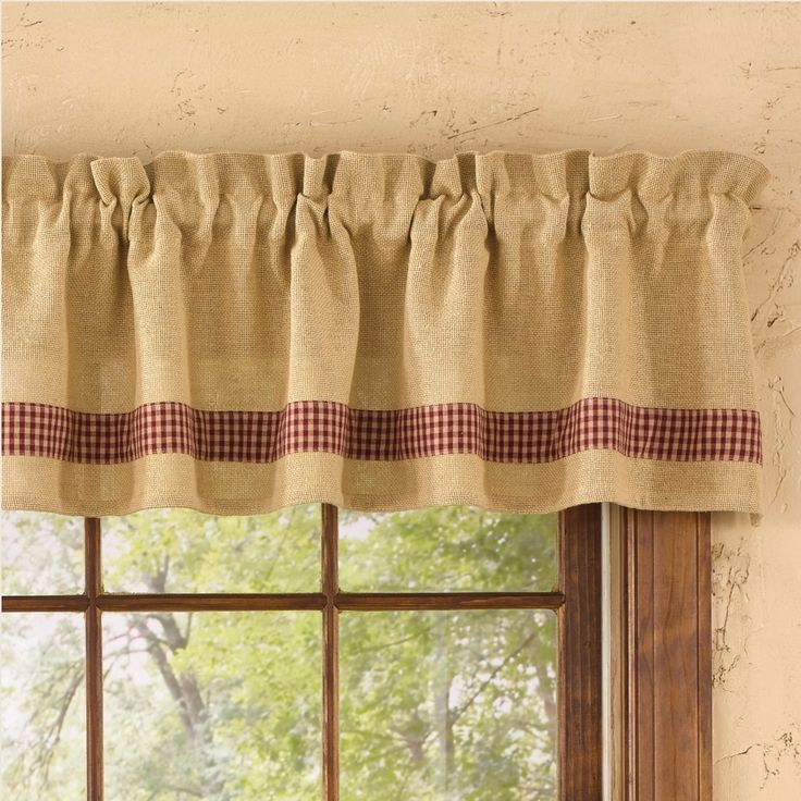 """Country Straight Valance Curtains 