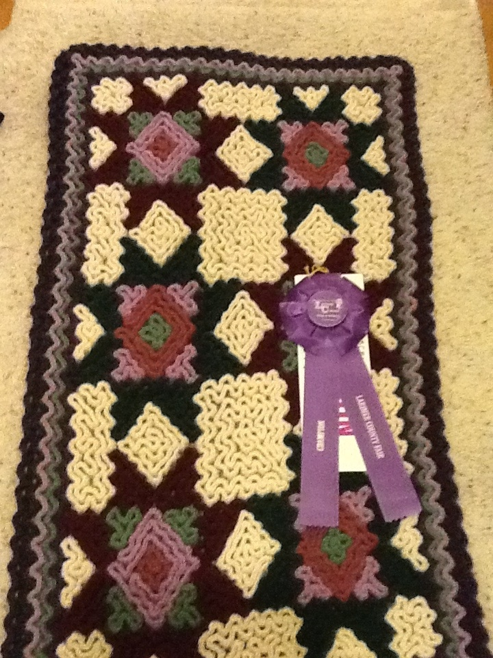 2011 Larimer County Fair Champion Patchwork Wiggle Crochet Rug