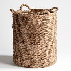 basket for blankets in the lounge