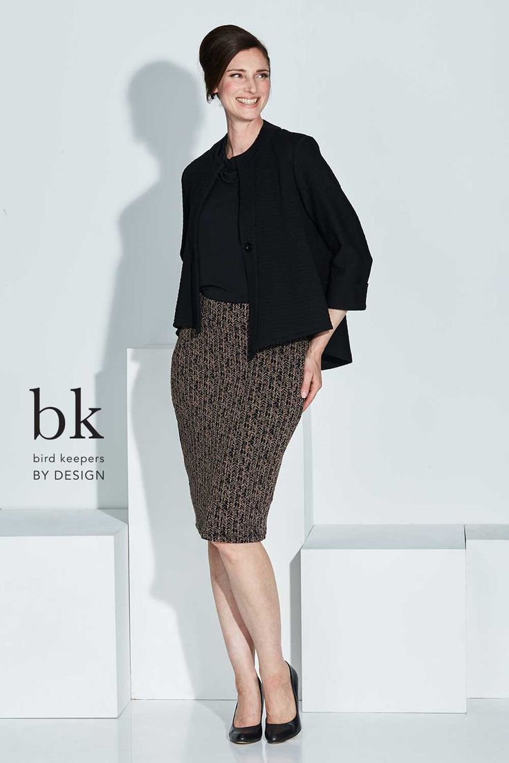 BIRD KEEPERS BY DESIGN - The Stretch Jacquard Skirt