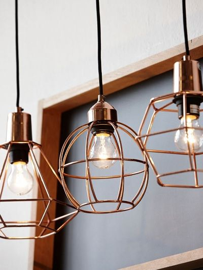 Set koperen hanglampen - Aan het licht gebracht: lumineuze lampen
