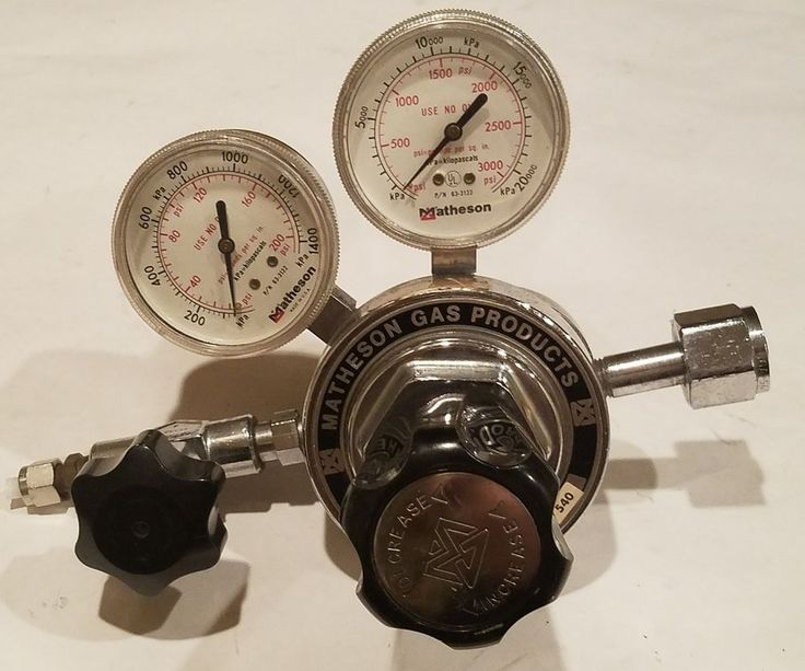 MATHESON GAS 3104C 540 3000 PSI 0-200 COMPRESSED INERT GAS PRESSURE REGULATOR #MATHESON