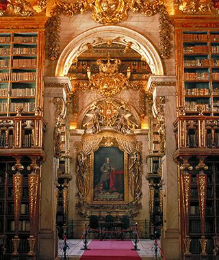 Most Beautiful Libraries in the World: Coimbra Library, University of Coimbra–Alta and Sofia, Portugal