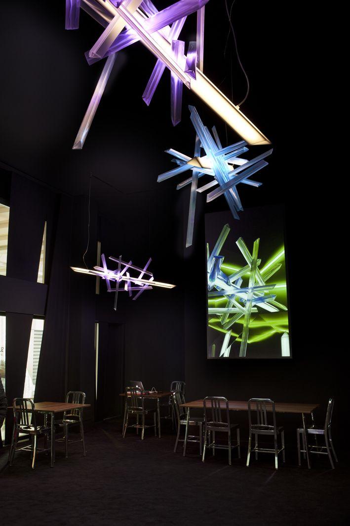 """La #Traviata"", the new avant-garde light sculpture created by Robert…"