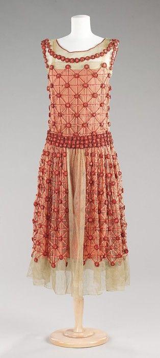 """Roseraie"" dress by House of Lanvin, 1923 France, the Met Museum"