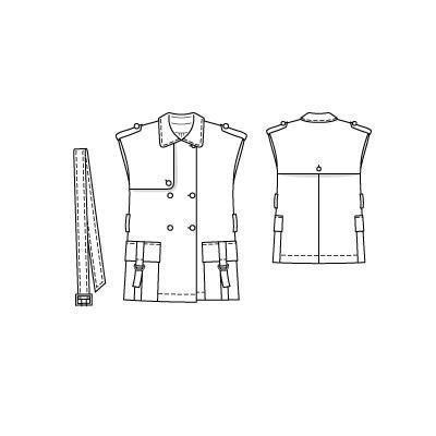 05-2010-132 Trench coat jacket, 72-88