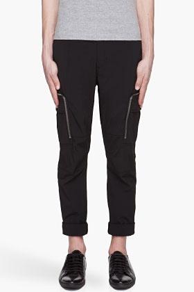 JUUN.J Black zippered cargo Pants
