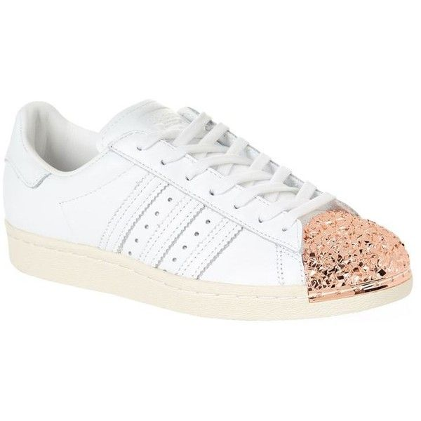ee562d4252 Adidas Originals Metal Toe-Cap Superstar Sneakers ( 120) ❤ liked on  Polyvore featuring shoes